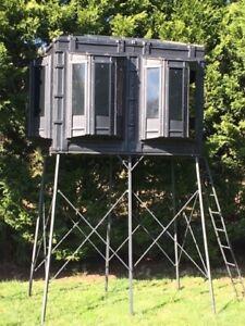 Hughes HP-67010 Hunting Ground 4x8 The Lodge Box Blind W Window Kit (No Stand)