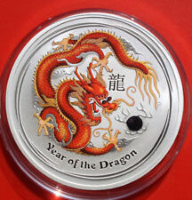 "Australien: 1 Dollar 2012 Silber 1 Oz  Year of the Dragon, ""RED"", #F 2505"
