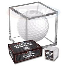 6 Golf Ball Holder Display Square Case BCW 2x2x2 Stackable Cube Stand Protector
