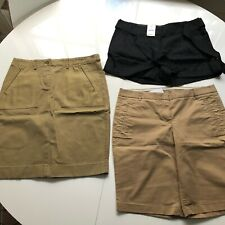NWT J.Crew Bundle Lot of 3 - 1 skirt and 2 shorts. Stretch cotton,linen. US 6 8.
