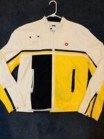 Vintage 1990s Windbreaker Moto Jacket Sixty Brand L Never Worn Dead stock