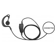 1-Wire Earhook Braided Fiber Headset Inline PTT for Motorola SL 2-Way Radios