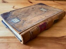 1870s Handwritten Leather Bound Ledger Turned Into 1930s Military Scrapbook Navy