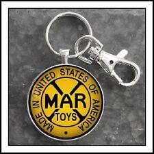 Vintage Marx Toy Sign Photo Keychain Pendant Gift