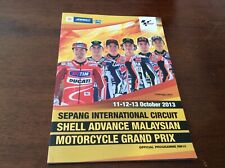 OFFICIAL MOTOGP SEPANG  INTERNATIONAL CIRCUIT 2013 PROGRAMME