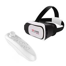 VR CASE Virtual Reality 3D TV Movie Glasses Wireless Controller Gamepad White DA