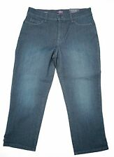 NYDJ NEW Blue Womens Size 10 Burbank Wash Karen Capri Jeans