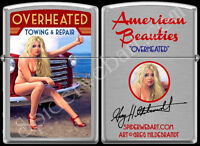 ZIPPO VERY RARE GREG HILDEBRANDT OVERHEATED PINUP HAND SIGNED LIGHTER NEW