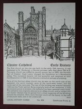 POSTCARD CHESHIRE CHESTER CATHEDRAL EARLY HISTORY LOCAL HISTORY CARD