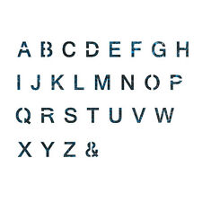 Alphabet Stencil Reusable Template for Wall Art Crafting and Painting Signs #2