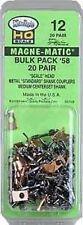 "Kadee HO Magne-Matic #58 ""Scale"" Universal Metal Couplers 20 pair - Item #12"