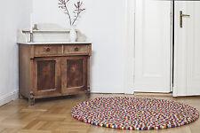 myfelt Lotte 250 cm Design Teppich 100% Wolle Filzkugelteppich Kinder-Teppich