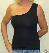 One Shoulder Black stretch Lycra  Top 12/14