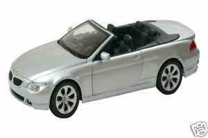 1:18 scale Welly BMW 645CI CONVERTIBLE SILVER diecast