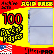 2 POCKET ULTRA PRO PLATINUM PAGES - POSTCARD PHOTO 100