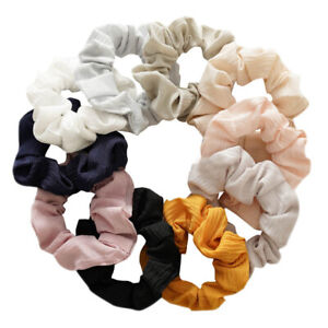 Fashion Solid Color Elastic Scrunchies Ponytail Hair Rings Rubber Bands Headwear