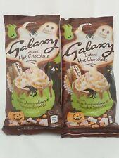 2 LIMITED EDITION GALAXY HOT CHOCOLATE HALLOWEEN PACKS MINI MARSHMELLOWS