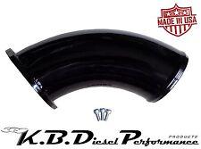 KBDP Gloss Black Turbo Air Intake Elbow Inlet Horn Chevy GMC 6.6l Duramax LB7