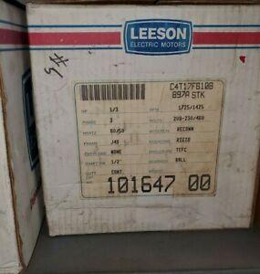 "1/3 HP LEESON, 208-230/460V, 1725/1425 RPM, J48 FRAME, 1/2"" SHAFT,101647.00"