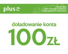 DOŁADOWANIE DOLADOWANIE - PLUS 100 PLN [Szybka realizacja/PayPal/Przelew]