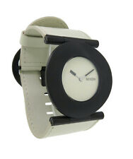 Nixon A234 631 Superior Women's Round Bone White & Black Leather Analog Watch