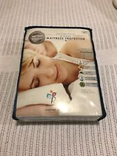 """PureCare 5-sided Mattress Protector Standard Queen 8""""-13.5"""" depth White NEW"""