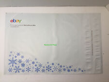 """🎄eBay-Branded Polymailer 10""""x12"""" No Padding Resealable Lot of 36🎄Snowflakes 🎄"""
