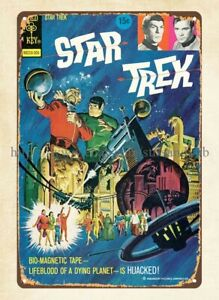 wall restaurant pub sale 1973 Star Trek Comic Gold Key metal tin sign