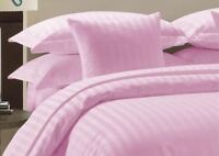 All Bedding Items Egyptian Cotton 1000 Thread Count & US Sizes Pink Stripe