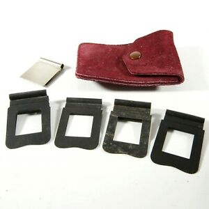 ✅ Paillard Bolex Filter Holders For H16 Reflex Movie Cameras + Cutting Template