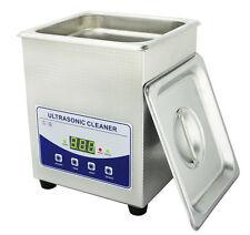 2L Digital Ultrasonic Cleaner Dental Lab jewelry W/ heater and Degassing 220V