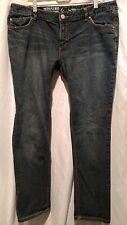 skinny jeans 17 s medium mossimo dark blue short low