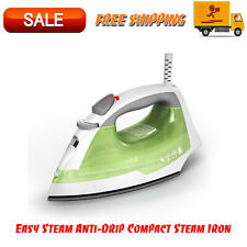 Easy Steam Anti-Drip Compact Steam Iron, Green, IR02V Nonstick Soleplate Surface