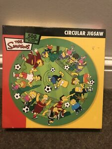 Brand New Sealed The Simpsons Circular Jigsaw 500 Piece Lockdown 99p