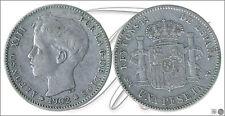 Espagne - Monnaies centenario- Année: 1902 - numéro 00075 - 1 pta. ( 02) SMV Ag