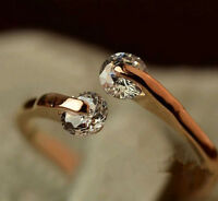 Women Gold Plated Crystal Bridal Engagement Ring high quality