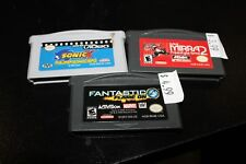 SONIC X, Freestyle bmx and Fantastic 4 flame on for the gameboy advance