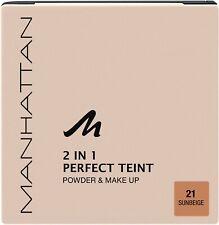 MANHATTAN 2 in 1 Perfect Teint Powder & MakeUp (21 Sunbeige) NEU&OVP