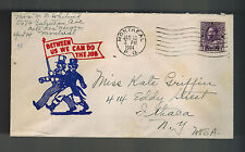 1944 Montreal Canada Patriotic war cover to USA Between Us We Can Do the Job