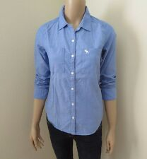 Abercrombie Womens Chambray Button Down Shirt Size XS Top Blouse Blue