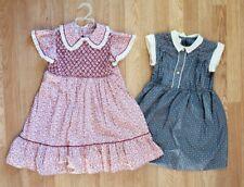 Vintage 70s Polly Flinders Dresses Girls 6 Lot Of 2