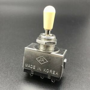 Sealed 3-Way Toggle Switch For Electric Guitar - Cream Cap