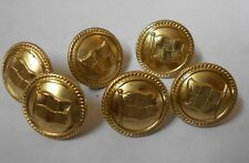 canadian pacific  six vintage shipping line buttons by firmin of london 1.8cm
