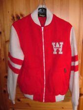 Wrangler College Jacke ~ vintage Größe 36 / 44  ROT WEIß
