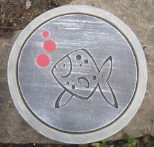"Fish stepping stone plastic mold 12"" x 1.5"" thick"