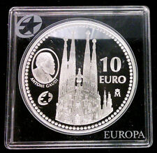 ESPAGNE - 10 EURO 2010 ANTONI GAUDI - ARGENT PROOF BE - RARE!!!