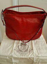 Ladies Ralph Lauren red leather handbag