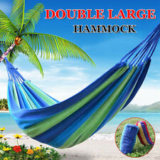 250 KG Double Cotton Fabric Hammock Air Chair Hanging Swinging Camping 300*150CM