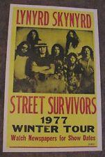 LYNYRD SKYNYRD 1977 CONCERT TOUR  POSTER RONNIE VAN ZANT lynard skynard VANZANT