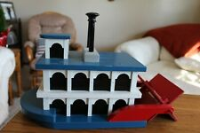 BIRDHOUSE; Paddle Wheel Boat, Handmade